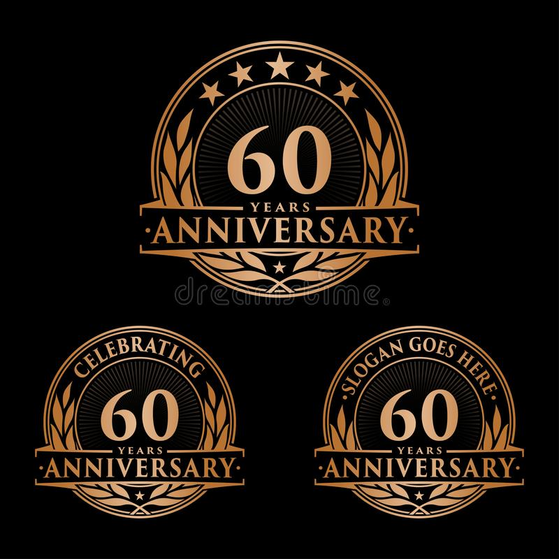 60 years anniversary design template. Anniversary vector and illustration. 60th logo. 60 years anniversary design template. 60 years celebrating vector and vector illustration