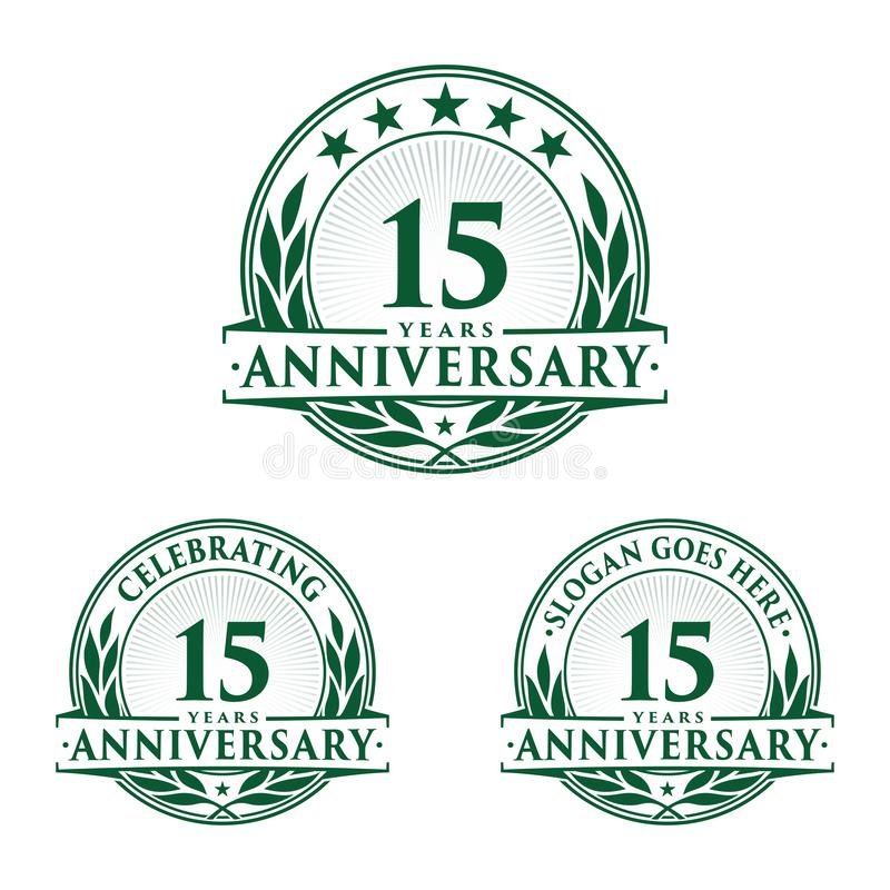 15 years anniversary design template. Anniversary vector and illustration. 15th logo. vector illustration
