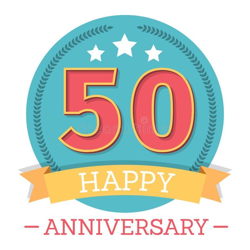 50 Years Anniversary Emblem royalty free illustration