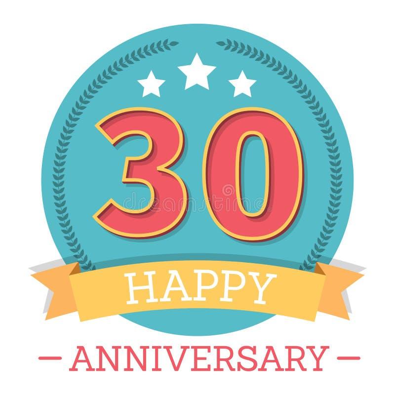 30 Years Anniversary Emblem vector illustration
