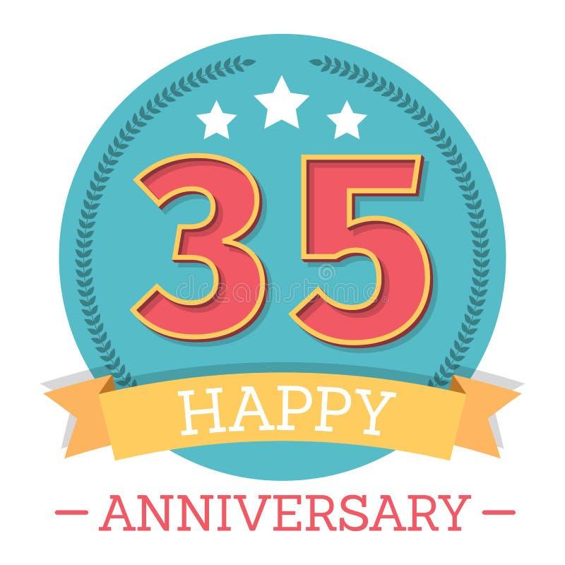 35 Years Anniversary Emblem vector illustration