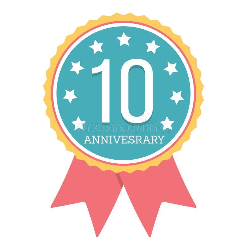 10 Years Anniversary Emblem royalty free illustration