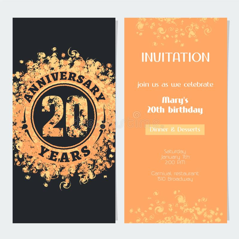 20 years anniversary invitation to celebration event vector download 20 years anniversary invitation to celebration event vector illustration stock vector illustration of gift stopboris Gallery