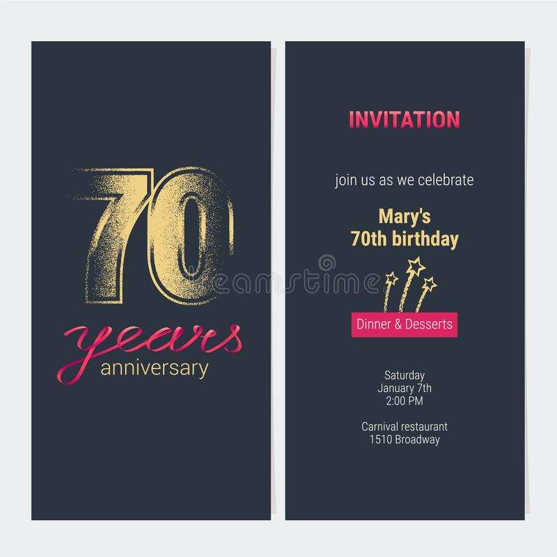 70 years anniversary invitation vector card stock vector download 70 years anniversary invitation vector card stock vector illustration of flyer design stopboris Images
