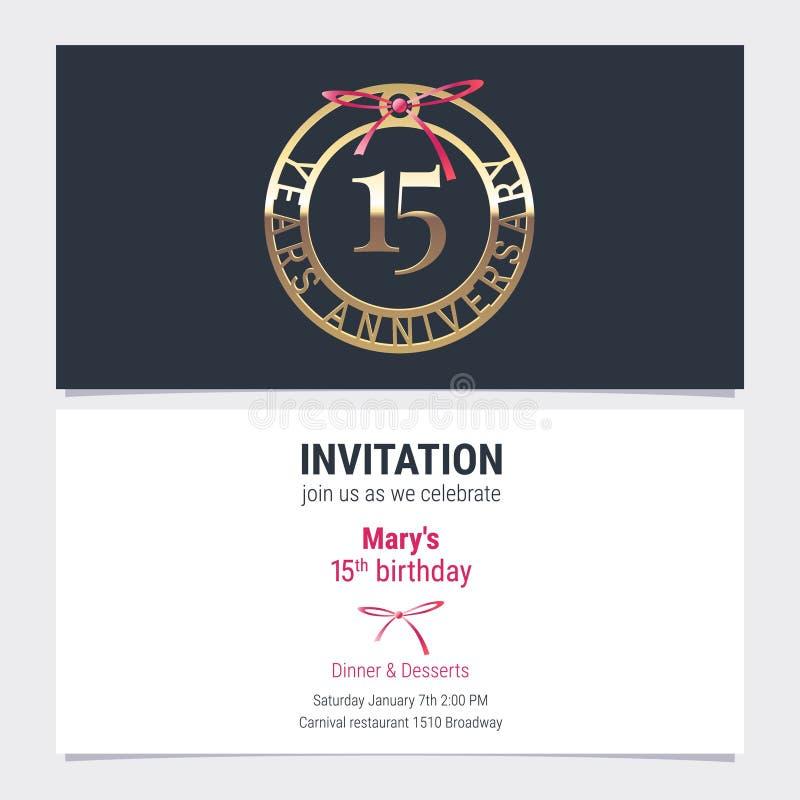 15 years anniversary invitation vector stock vector illustration download 15 years anniversary invitation vector stock vector illustration of emblem greeting 117059888 stopboris Gallery