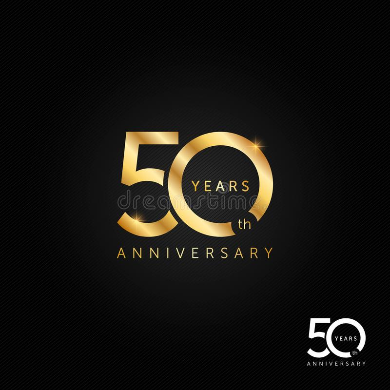 50 years anniversary logo, icon and symbol vector illustration royalty free illustration