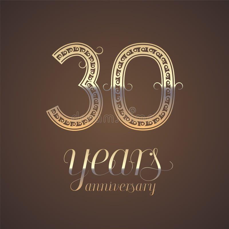 30 Year Anniversary Symbol: 30 Years Anniversary Symbol Stock Vector