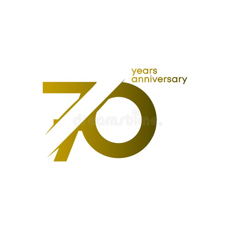 70 Years Anniversary Vector Template Design Illustration royalty free stock photos