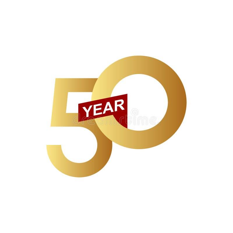 50 Years Anniversary Vector Template Design Illustration royalty free illustration