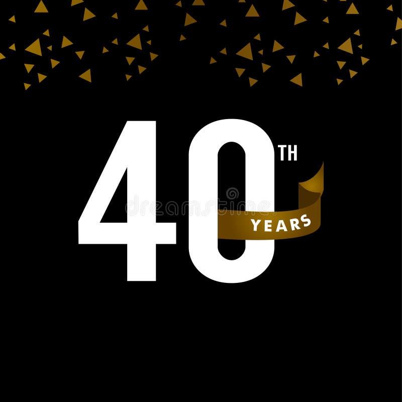 40 Years Anniversary Vector Template Design Illustration royalty free illustration