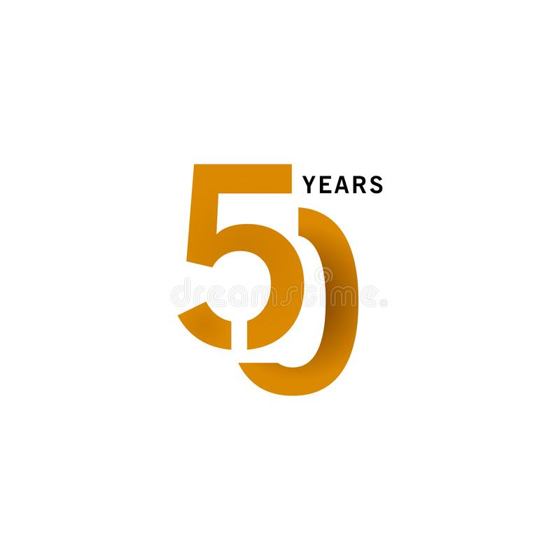 50 Years Anniversary Vector Template Design illustration. Advertisement, corporate, greeting, ten, isolated, jubilee, text, marriage, ceremony, gold, luxury vector illustration