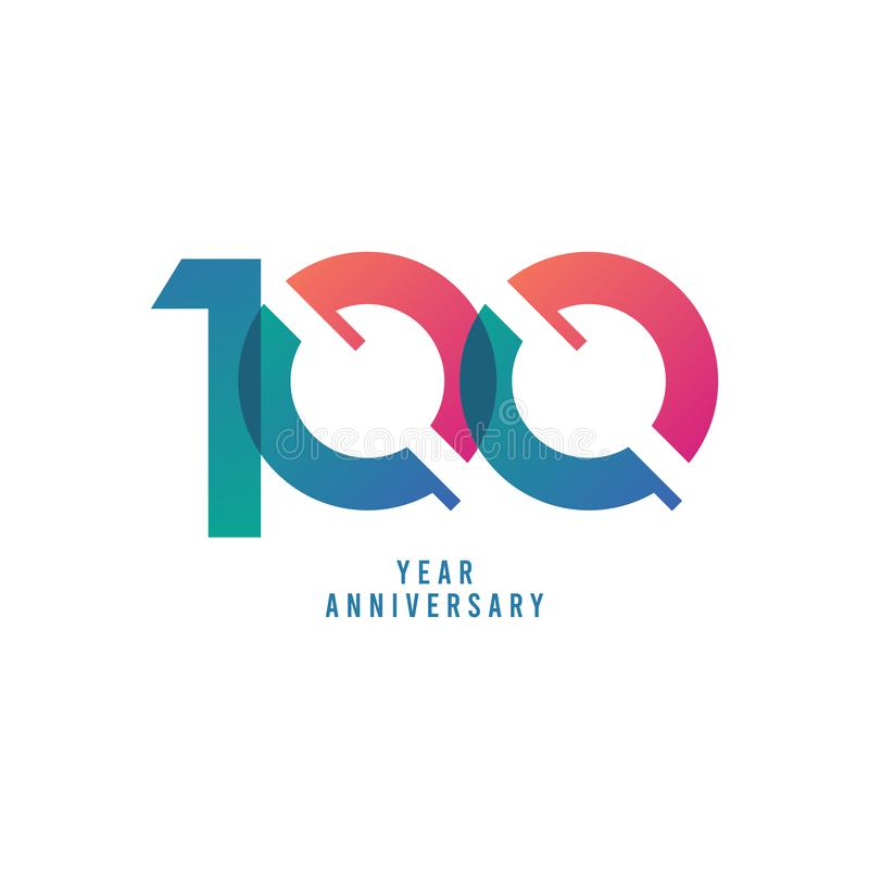 100 Years Anniversary Vector Template Design Illustration. Advertisement, corporate, greeting, ten, isolated, jubilee, text, marriage, ceremony, gold, luxury vector illustration