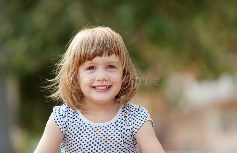 3 years baby girl stock image