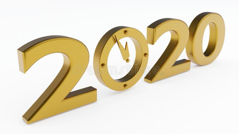 2020 years and clock stock images