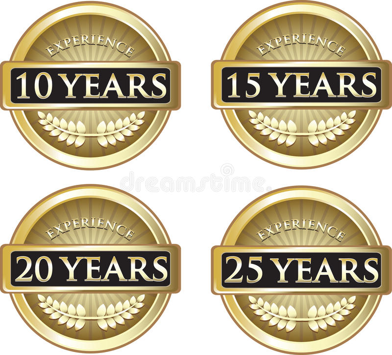 Years Of Experience royalty free stock images