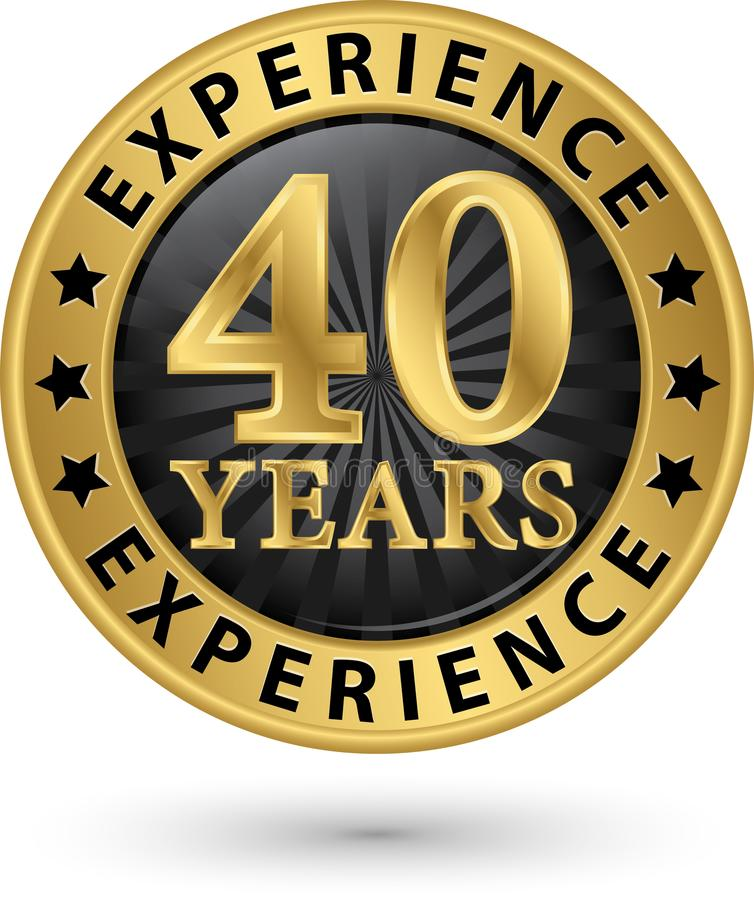 40 years experience gold label, vector. Illustration vector illustration