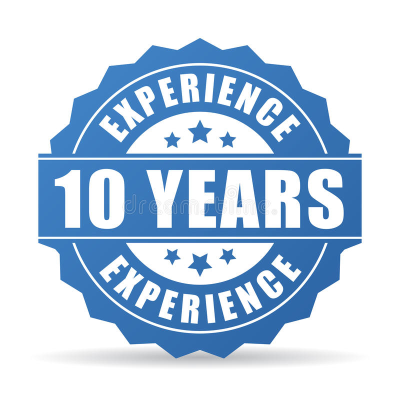 10 years experience vector icon stock vector