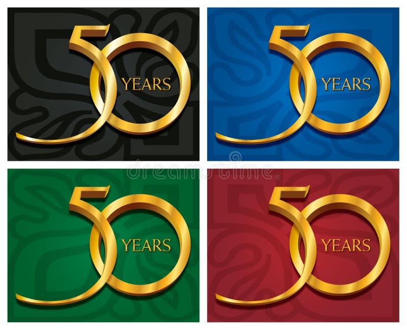 50 Years / Golden jubilee stock illustration