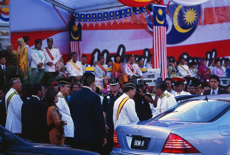50 Years Merdeka of Malaysia: Celebration with Royals and Ministers in Kula Lupur City royalty free stock photography