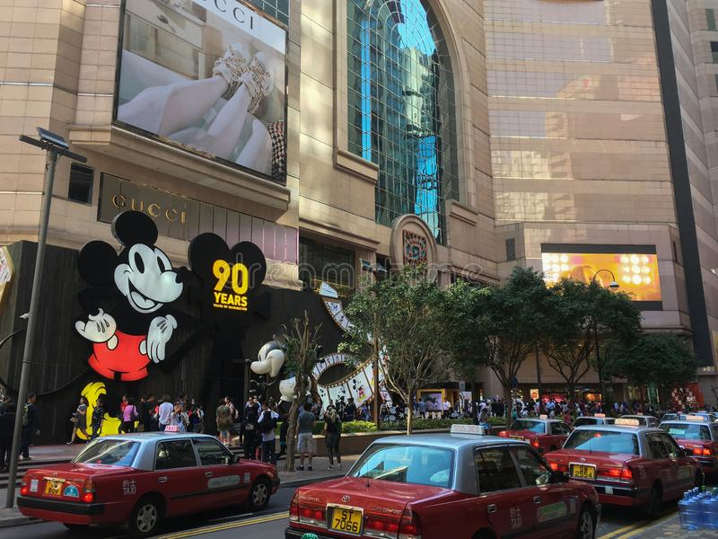 `90 Years of Mickey`exhibition in Hong Kong stock images