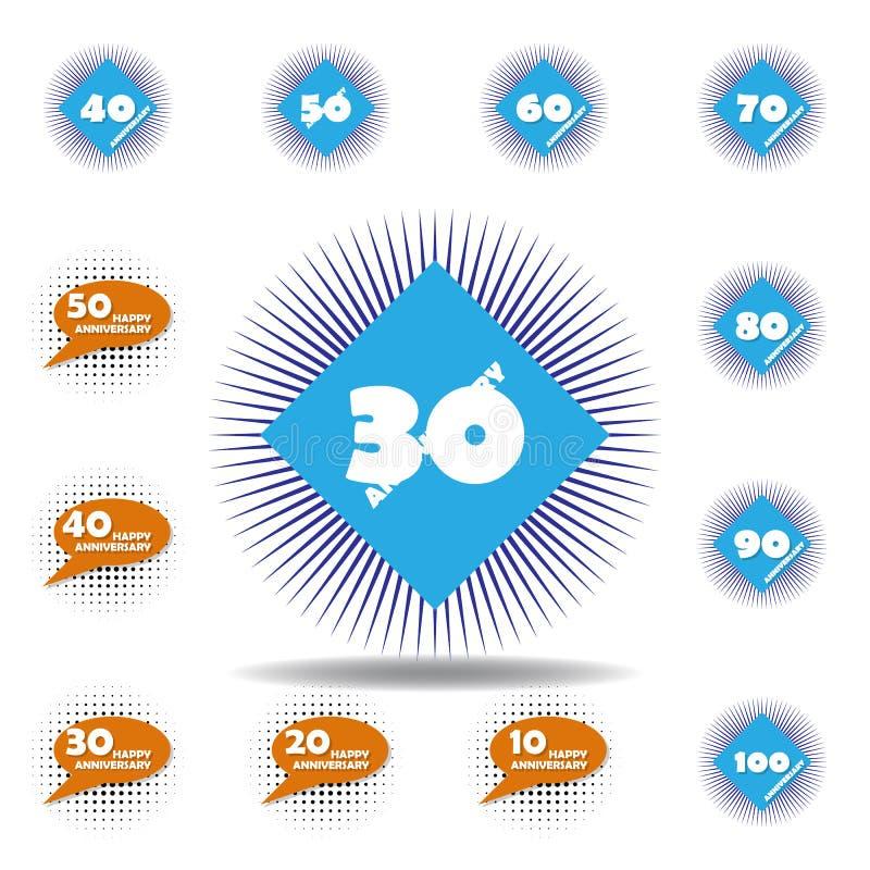 30 Year Anniversary Symbol: Wedding Symbols Set Stock Photo. Image Of Celebration
