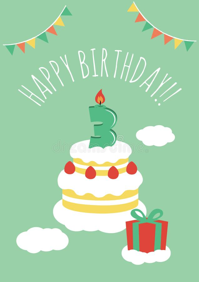Awesome Years Old Birthday Cake Stock Illustrations 717 Years Old Funny Birthday Cards Online Overcheapnameinfo