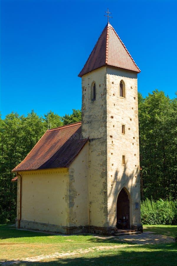 700 years old church stock photos
