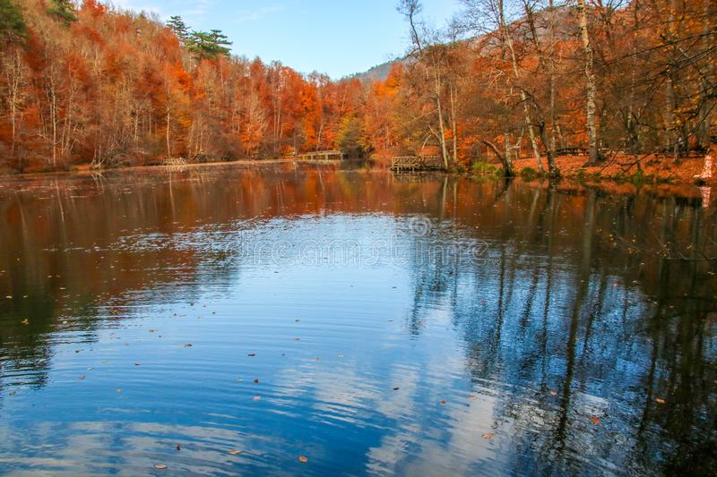 Yedigöller National Park, Autumn. Yedigoller National Park is an oasis for urban folk, who are often shocked by its beauty when witnessing the seven small stock images