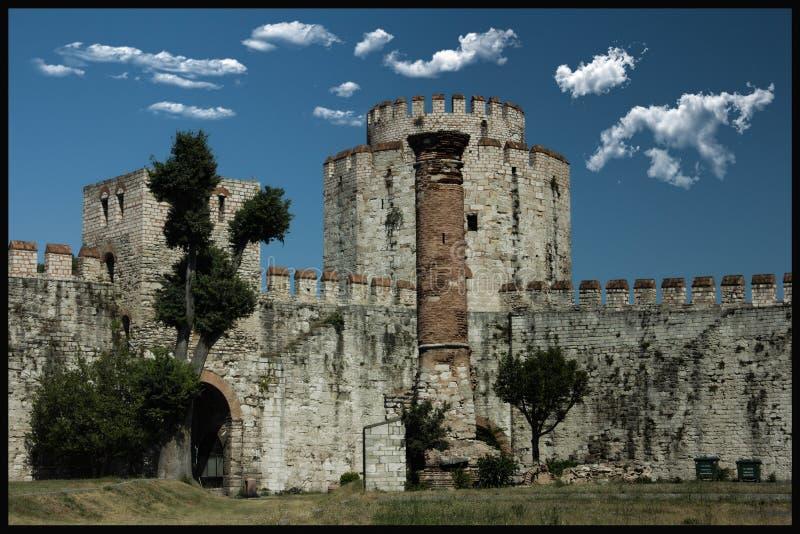 Yedikule土牢;伊斯坦布尔和土耳其是一个最老打开 库存图片