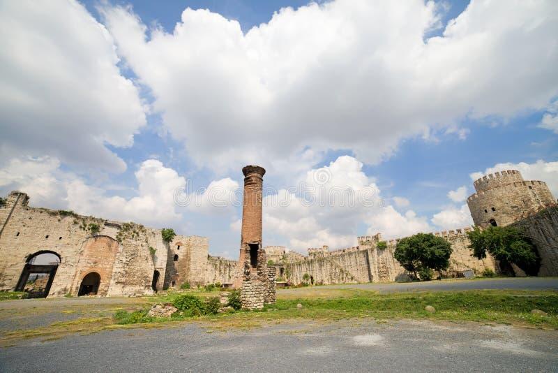 Yedikule Castle in Istanbul royalty free stock photos