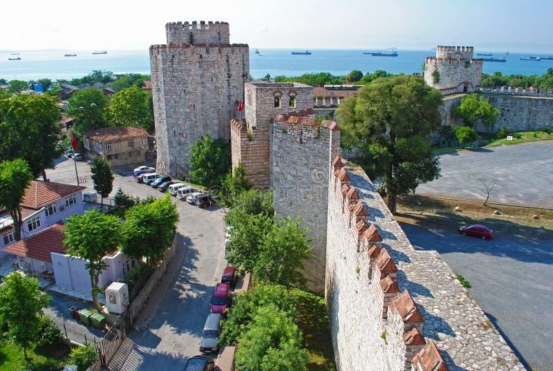Yedikule (de Vesting van Zeven Torens) Istanboel royalty-vrije stock afbeeldingen