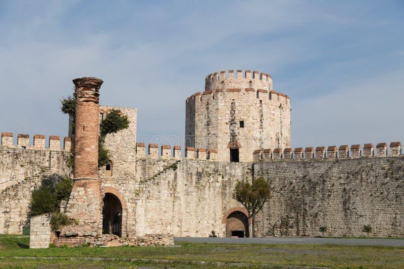 Yedikule fästning royaltyfri bild