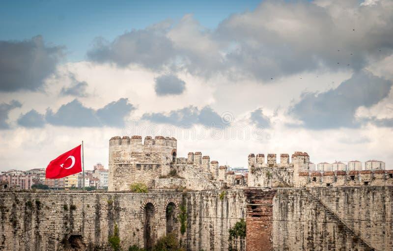 Yedikule fästning arkivbild