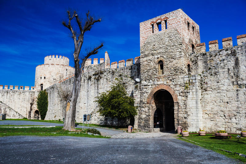 yedikule för fästningistanbul sju torn arkivfoto