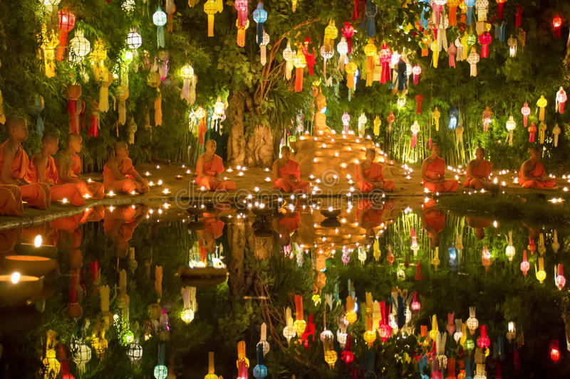 Yee-Peng festival in Chiang mai Thailand royalty free stock image