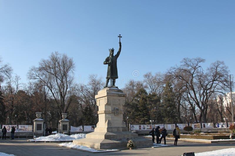 Yegua de Stefan cel del monumento del MOLDAVIA CHISINAu fotografía de archivo libre de regalías