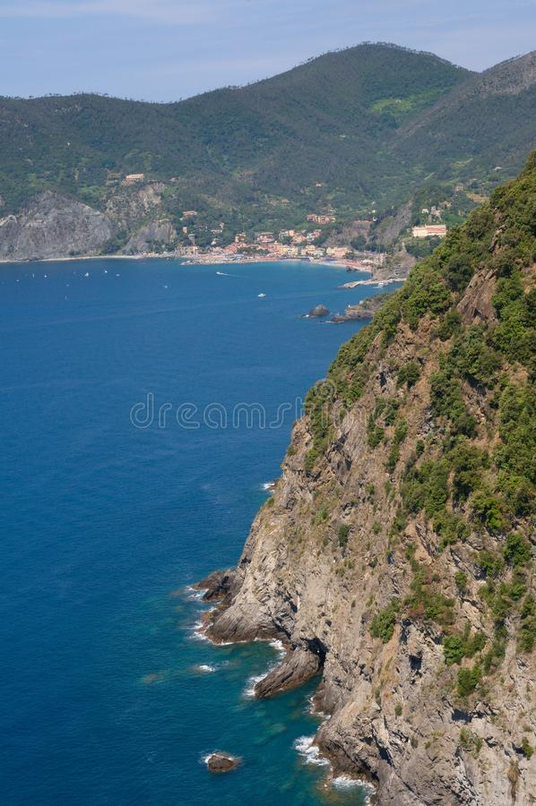 Yegua del al de Monterosso, Liguria, Italia fotografía de archivo