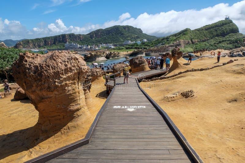 Yehliu Geopark fotos de archivo