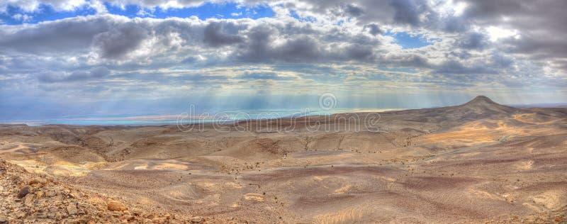 Yehuda Desert and Dead Sea Panorama, Israel royalty free stock photos
