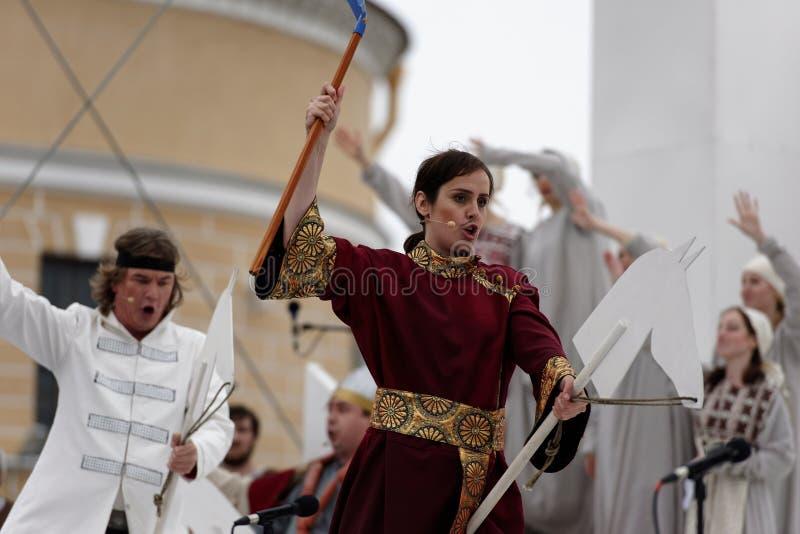 Yekaterina Krapivina в опере Ruslan и Lyudmila стоковые фотографии rf