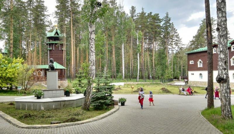 Yekaterinburg, Rusland, Juni 2017 Het project reist in Rusland Het project reist in Rusland Klooster van stock foto's