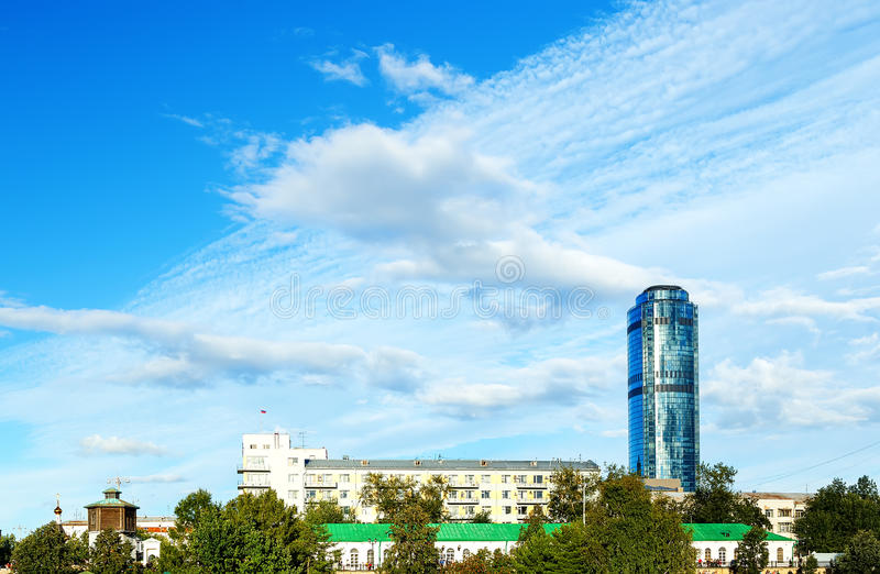 YEKATERINBURG RUSSIA - AUGUST 15,2015: celebration of the feast day of the city. EKATERINBURG RUSSIA - AUGUST 15,2015: celebration of the feast day of city royalty free stock image