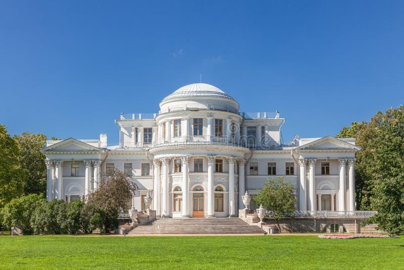 Yelagin宫殿在圣彼得堡,俄罗斯 库存图片