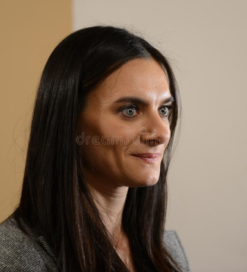 Yelena Isinbayeva - two-time Olympic champion. Three-time world champion outdoors and indoors. Winner of 28 world records in pole royalty free stock photo