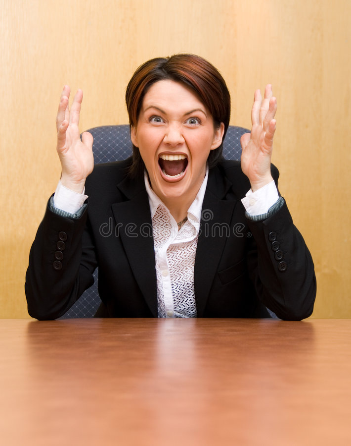 Yelling stock image