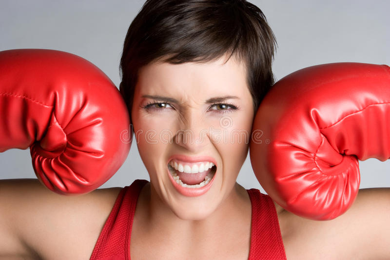 Download Yelling Boxer stock image. Image of teen, pretty, girls - 10798617