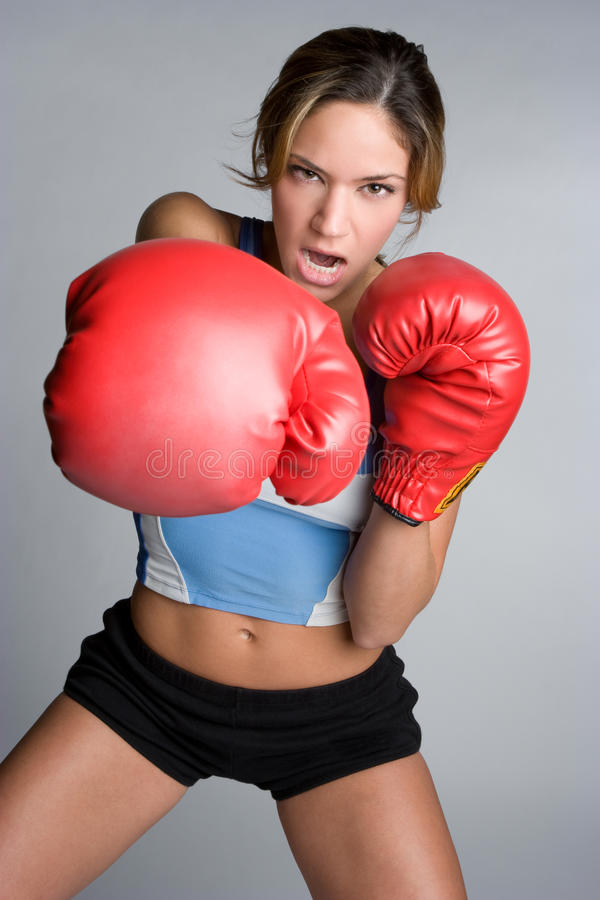 Download Yelling Boxer stock photo. Image of gloves, female, mean - 11365632