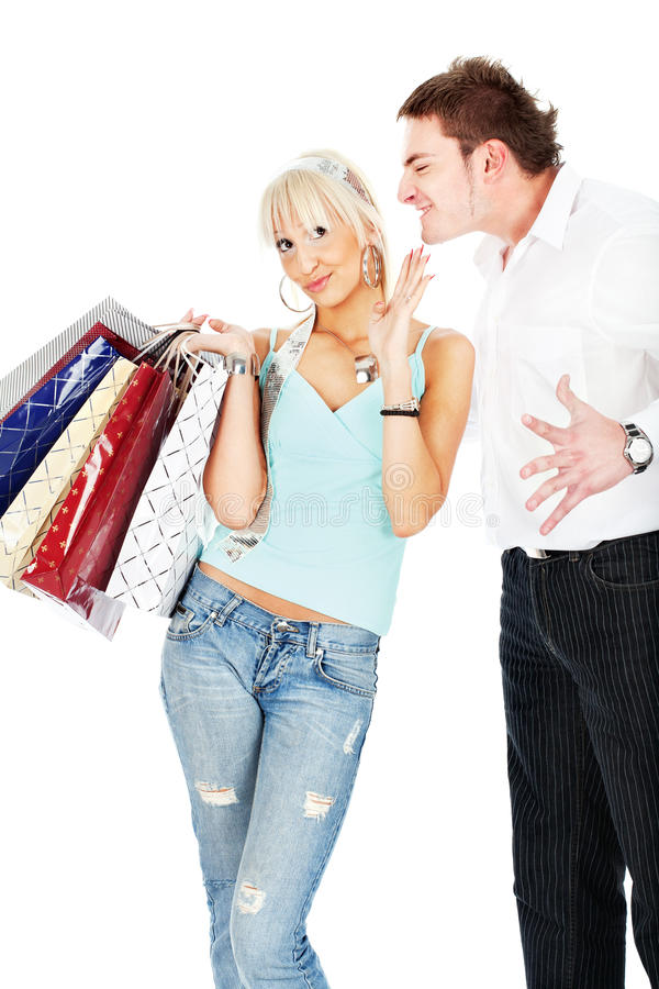 Download Yelling at her stock photo. Image of attractive, holding - 22458922