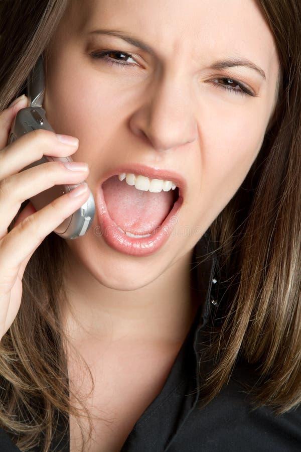 Yelling Phone Woman Royalty Free Stock Image