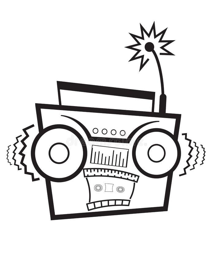 Yelling Radio!. An image of an isolated yelling radio vector illustration